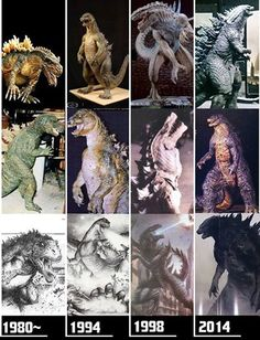 Godzilla - three decades of evolution. The King of all Monsters, through the years of development by Hollywood, from 1984 to 2014. Which version is your fave?