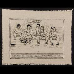 Kathy Halper - Bad Idea - embroidered Facebook posts of young people