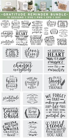 Thanksgiving Messages, Thanksgiving Diy, Thankful Quotes, Gratitude Quotes, 2 Clipart, Fathers Day Quotes, Reminder Quotes, Silhouette Cameo Projects, Thing 1