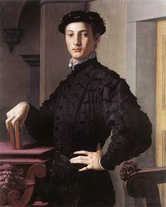 Bronzino, Portrait of a Young Man, c. 1540.  Absolute self-assurance!