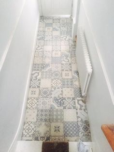 Vintage & Patterned Tiles from www.c… Statement Hallway Floor! Vintage & Patterned Tiles from www. Vinyl Wood Flooring, Vinyl Floor Mat, Hall Flooring, Kitchen Flooring, Vinyl Flooring Bathroom, Kitchen Tiles, Floor Mats, Hall Tiles, Tiled Hallway