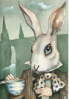 The White Rabbit - Alice In Wonderland Dominic Murphy Lewis Carroll, Alice Rabbit, Rabbit Art, Rabbit Hole, Alice In Wonderland Theme, Adventures In Wonderland, Alice In Wonderland Illustrations, Chesire Cat, Alice Madness