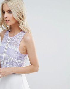 276ea625133c Boohoo Petite Lace Bodice Maxi Dress at asos.com