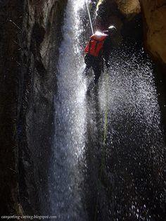 Canyoning at Evritania, Greece