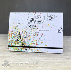 Lostinpaper - Altenew Painted Butterflies Awesome card