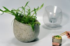 using a method soap bottle as a mold for concrete planters:  Dwell | At Home in the Modern World: Modern Design & Architecture