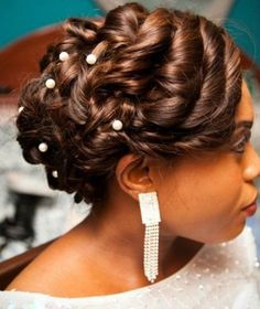 black updo hairstyle for wedding