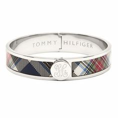 Tartan Bangle by Tommy Hilfiger Tartan Fashion, Punk Fashion, Tartan Clothing, Monogram Jewelry, Monogram Bracelet, Scottish Plaid, Preppy Southern, Tartan Plaid, Tommy Hilfiger