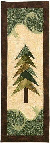 Misty Pine Wall Hanging pattern $8.50 on Jeri Kelly at http://www.jerikelly.com/html/misty_pine.html