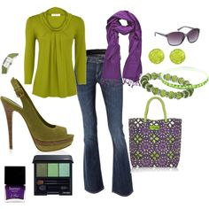 Green and Purple!