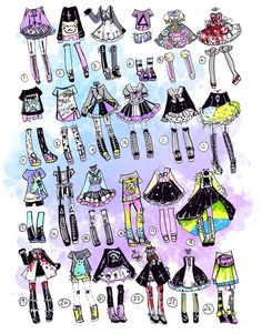 Comment any of my OC's and an outfit!
