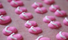Flip-flop Royal Icing Transfers | Make Me Cake Me