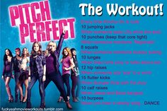 Pitch Perfect Workout! Want to see more workouts like this?  Follow us here for your favorite movies and tv shows! We take requests, too!