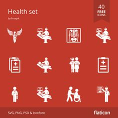 Health free icons in vector format for both personal commercial use. (License: CC BY Vector Icons, Vector Free, Free Icon Packs, Vector Format, Medical Prescription, Icon Font, Web Design, Health, Commercial