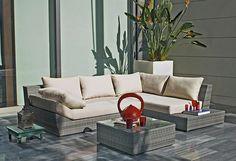 Outdoor Sofa, Outdoor Furniture Sets, Outdoor Decor, Rattan, Relax, Leroy Merlin, Porch Swing, Loft, Interior Design