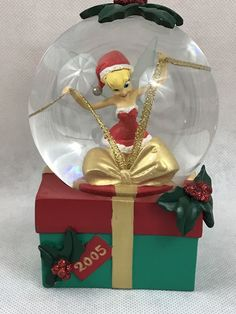 Retired 2005 Disney Store Tinkerbell Christmas Gift Snow Globe Collectible in Collectibles, Disneyana, Contemporary (1968-Now), Snowglobes | eBay