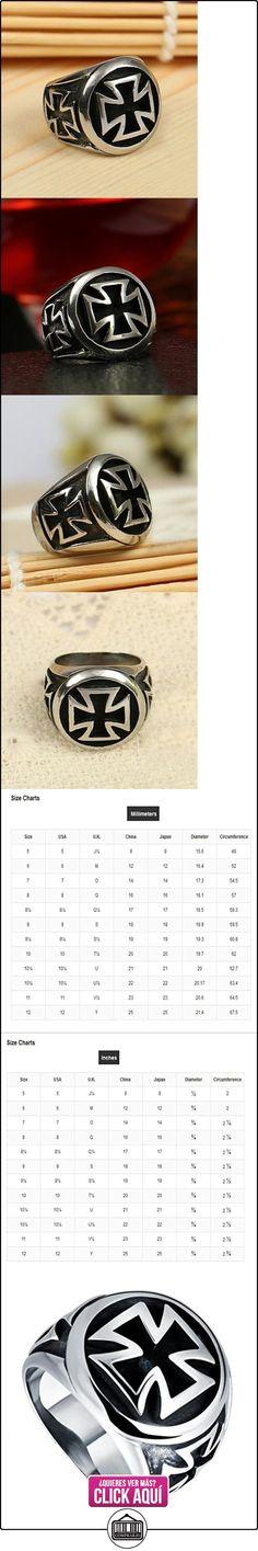 HFJ&YIE&H europa anillo de acero de titanio cruz de la personalidad de los hombres . 8  ✿ Joyas para hombres especiales - lujo ✿ ▬► Ver oferta: https://comprar.io/goto/B01N7DDHG2