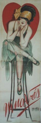 NINA-VRES-Affiche-originale-entoilee-Litho-Obrad-NICOLITCH-1928-69x200cm
