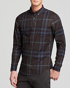 Burberry Brit Large Check Button Down Shirt - Slim Fit