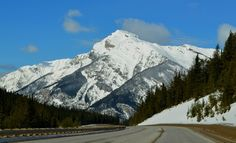 Majestic scenery on Route 1A going from Alberta to BC. .