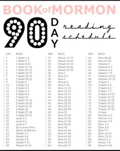 Miss Audrey Sue | BLOG: printable: book of mormon 90 days reading chart