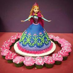 Disney Frozen Anna Doll Cake
