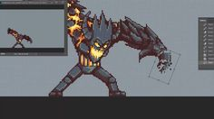 Lava Golem evolution Attack animation - 20 minutes version! Pixel Art Games, Gnomes, Game Art, Lava, Art Reference, Evolution, Planets, Animation, Make It Yourself