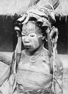 """Africa   """"Young Sorceress"""". Guere (We) people of Ivory Coast."""
