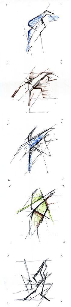 Canyon Lakes / Haecceitas Studio,sketches / Courtesy of Haecceitas Studio