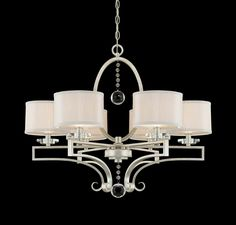 Savoy House Rosendal 6 Light Chandelier in Ceiling Lights, Chandeliers, Indoor Chandeliers: LeeLighting.com
