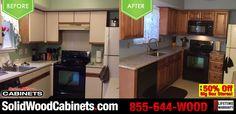 #beforeandafter #ktichencabinets #discountkitchencabinets #kitchendesign #homeimprovement #raisedkitchencabinets #dreamkitchen #granite #countertops #granitecountertops #maplecabinets