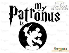 My Patronus is Mickey Mouse - Harry Potter - Cuttable Design Files (Svg, Eps, Dxf, Png, Jpg) For Silhouette and Cricut Harry Potter Nails, Harry Potter Disney, Stencil Diy, Stencil Designs, Disney Diy, Disney Crafts, Harry Potter Stencils, Harry Potter Planner, Nerd Crafts