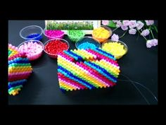 How to bead tissue box: Colorful tissue box 1/2