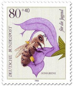 Honigbiene, Briefmarke 1984