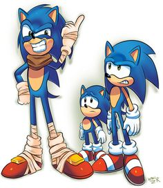 """SAWNIC the Hedgehogs by WaniRamirez on DeviantArt - Classic: """"Why?"""" Modern: """"Something is wrong with you, dude."""""""