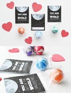 candy-free printable you are out of this world valentine for bouncy balls