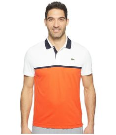 Lacoste Mens Sport Color Block Ultra Dry Pique Knit at Amazon Men's  Clothing store: