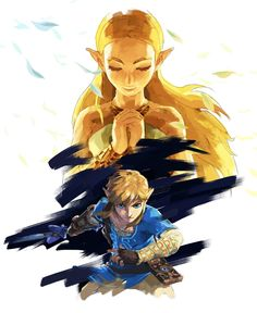 High resolution and uncut version of the beautiful new The Legend of Zelda: Breath of the Wild art that was released this morning.