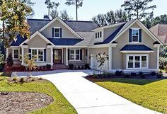 fabulous modern farmhouse exterior design ideas - page 19 Ranch House Plans, Country House Plans, New House Plans, Dream House Plans, House Floor Plans, My Dream Home, Dream Houses, Family Home Plans, Basement House Plans