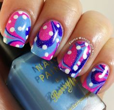 Fierce Makeup and Nails: The 31 Day Challenge: Day 20- Water Marble Mani #31DC2013