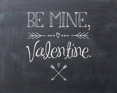 SALE Valentine's Day Chalkboard Art Print by EastwoodEclectic