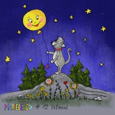 12. Vollmond #365DoodlesmitJohanna @byjohannafritz #doodles #vollmond #cat #illustration #moon Illustration, Doodles, Challenge, Snoopy, Moon, Photo And Video, Instagram, Cats, Videos
