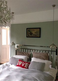 Farrow And Ball Blue Gray In My London Bedroom Blueandgreybedroom