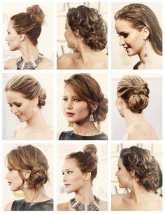Jennifer Lawrence award season hair