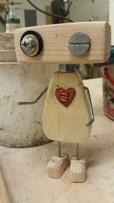 mended heart robotMended Heart Robot Mended Heart Robot Mended Heart Robot M mended heart robotMended Heart Robot Mended Heart Robot Mended Heart Robot M nbsp hellip Valentine crafts Recycled Robot, Recycled Art, Repurposed, Scrap Wood Projects, Woodworking Projects, Diy Projects, Junk Art, Into The Woods, Wood Creations