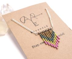Cute Color combo for the DIY cevron necklace.