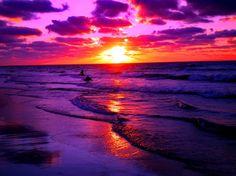 Purple Ocean Sunset