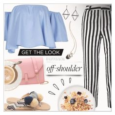 """""""Gamiss off shoulder style"""" by wannanna ❤ liked on Polyvore featuring Old Navy, Topshop Unique and Garance Doré"""