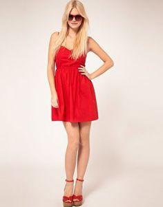 Red cutout summer dress