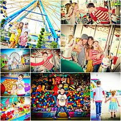 Fun carnival / fair / amusement park photo shoot idea!